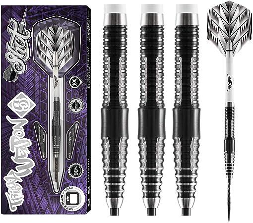 Shot Steel Darts Tribal Weapon Koa 90/% Tungsten Steeltip Darts Steeldart