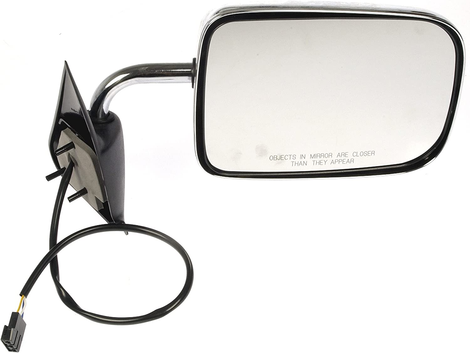 Chrome Power Door Mirror For 1994-1997 Dodge Ram Truck Right RH Side 55076612