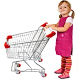 "Emmzoe The Little Shopper"" Real Life Kids' Mini Retail Grocery Shopping Cart Toy (Chrome Frame)"