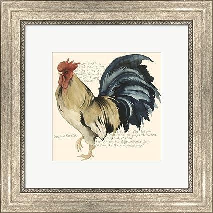 Amazon Great Art Now Roosters Crow Ii By Grace Popp Framed Art