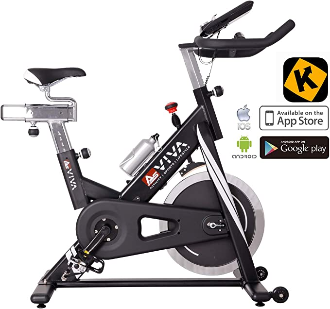 AsVIVA Unisex - Adultos Indoor Cycle & Speedbike S14 Bluetooth Indoorcycle Negro One Size: Amazon.es: Deportes y aire libre