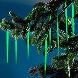 Unbekannt Leucht-Eiszapfen, 100 Stück, Weihnachtsdeko weihnachtliche Dekoration Baumdekoration Christbaumdeko Advent Leuchtstäbe