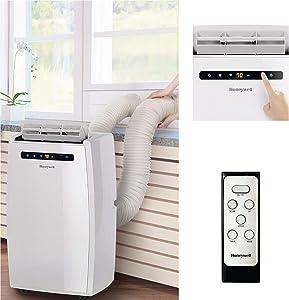 Honeywell MN14CEDWW 14,000 BTU Dual Hose Portable Air Conditioner with Dehumidifier, White