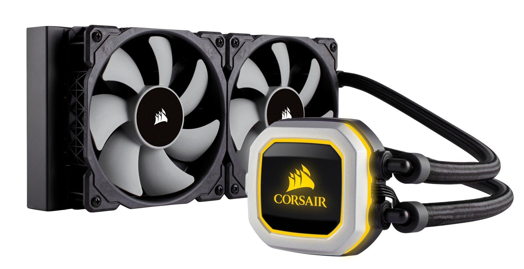 CORSAIR HYDRO Series H100i PRO RGB AIO Liquid CPU Cooler, 240mm, Dual ML120 PWM Fans, Intel 115x/2066, AMD AM4 by Corsair (Image #8)