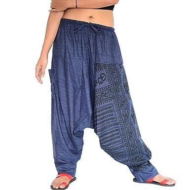 1289dae64e SHC Pantalones Harem Mujer y Hombre Bombachos 100% algodón  Amazon.es  Ropa  y accesorios