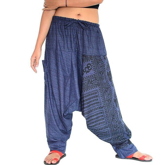 SHC Pantalones Harem Mujer y Hombre Bombachos 100% algodón ...