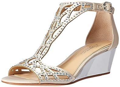 02a2f5430b Imagine Vince Camuto Women's Jalen Wedge Sandal, Pure White, 5 Medium US