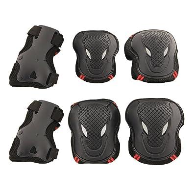 7 COLOR WINGS Kit de protection Protège-paume Coudière Genouillère de de skateboard roller vélo patin à glace etc. pour enfant/adulte