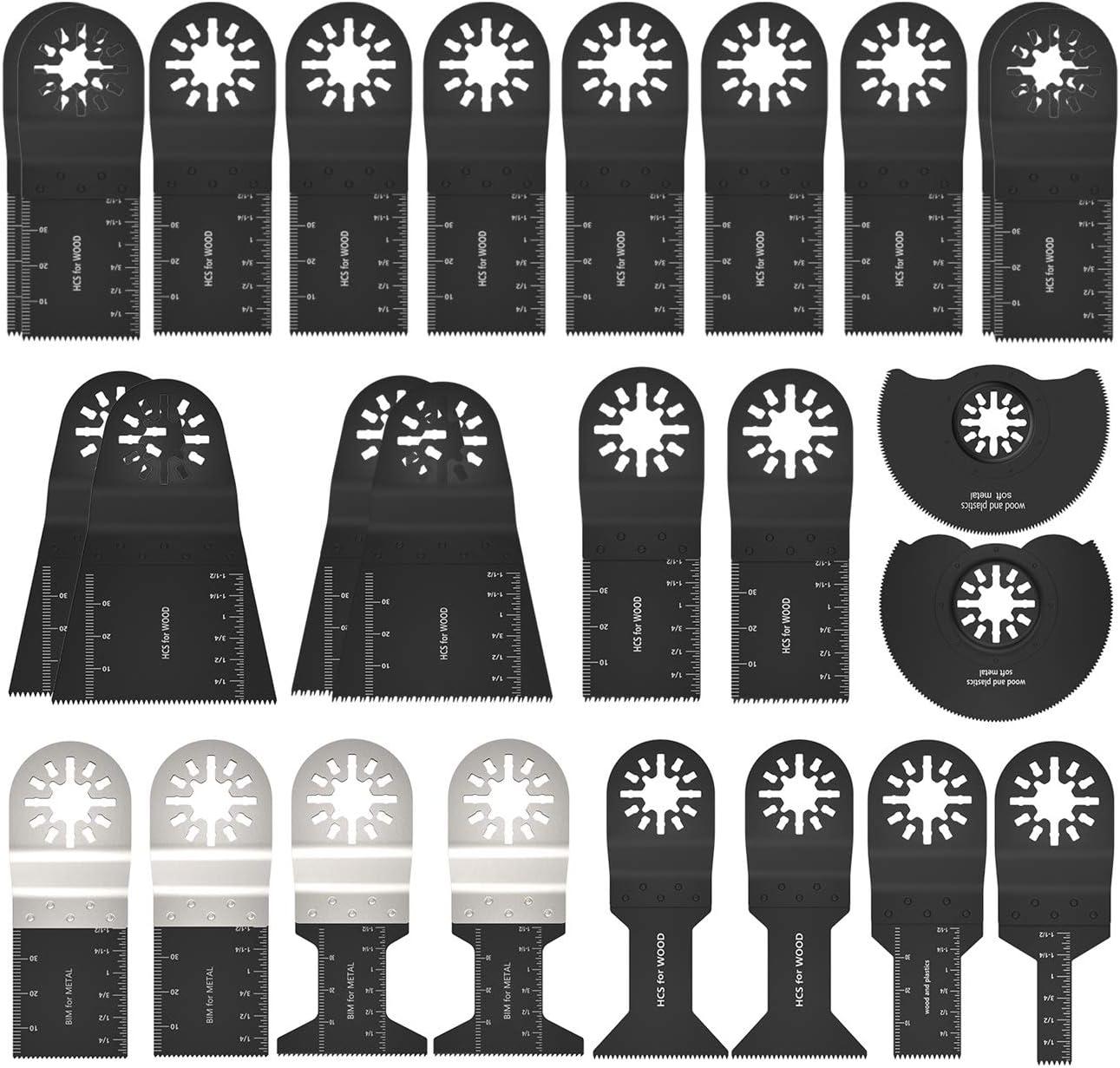 Multitool Lot de 20 lames de scie rapide Outil multifonction pour Fein Multimaster Bosch Black /& Decker Dewalt Rockwell Artisanat et bien plus