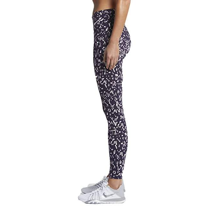 82796c4a0386b8 Nike Women`s Power Legendary Printed Mid Rise Training Tights (XL 26, Plum  Fog (532) / Purple Dynasty/White) at Amazon Women's Clothing store: