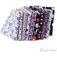 RayLineDo 10pcs Diferente patrón Multi Color 100% algodón