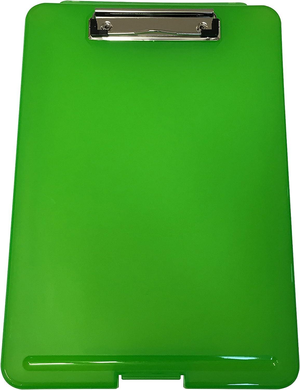 Tavoletta porta blocco in plastica nera impermeabile e resistente formato A4 con scomparto per conservare i fogli