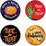 Spooky Halloween Personalised Thank You Stickers Party Bag Sweetie Cone Birthday