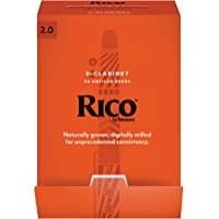 Rico Bb Clarinet Reeds, Strength 2.0, 50-pack