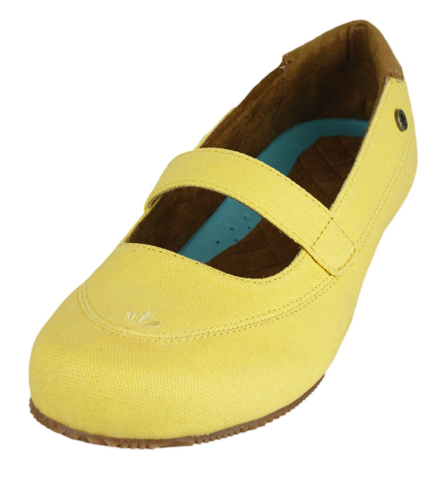 MOZO Women's Fab Canvas Work Shoe,Yellow,8 M US