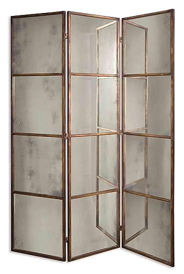 Boutique 80 Quot Antiqued Mirror Room Divider