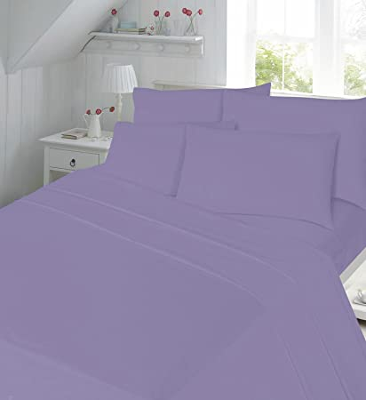 Great Percale Flat Sheets Non Iron Bed Sheets New Single Double King Size 180  Tread Count Plain