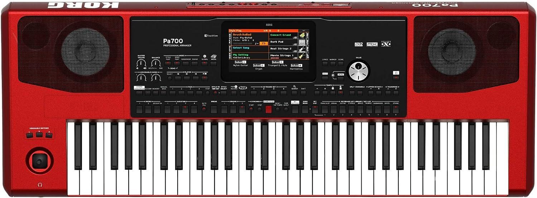 Korg Pa700RD Teclado profesional de 61 teclas (rojo)