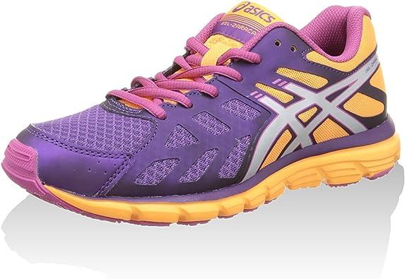 Asics Zapatillas Deportivas Gel-Zaraca 3 Morado/Plata/Naranja EU 37: Asics: Amazon.es: Zapatos y complementos