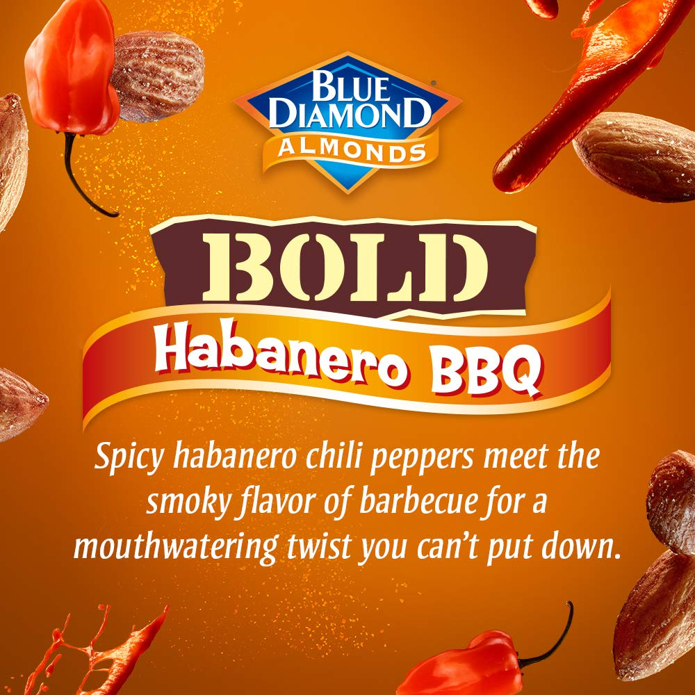 Blue Diamond Almonds BOLD Favorites Variety Pack - Salt 'n Vinegar, Habanero BBQ, & Wasabi & Soy Sauce, 16 Ounce BOLD Variety Pack (Pack of 3) by Blue Diamond Almonds (Image #8)