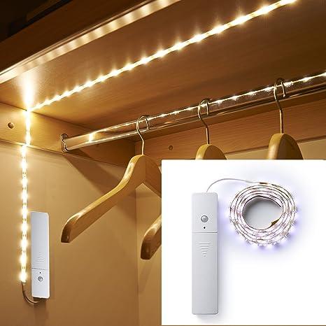 3 modos de luces LED de sensor de movimiento gabinete Lámparas de luz de cocina Luminarias