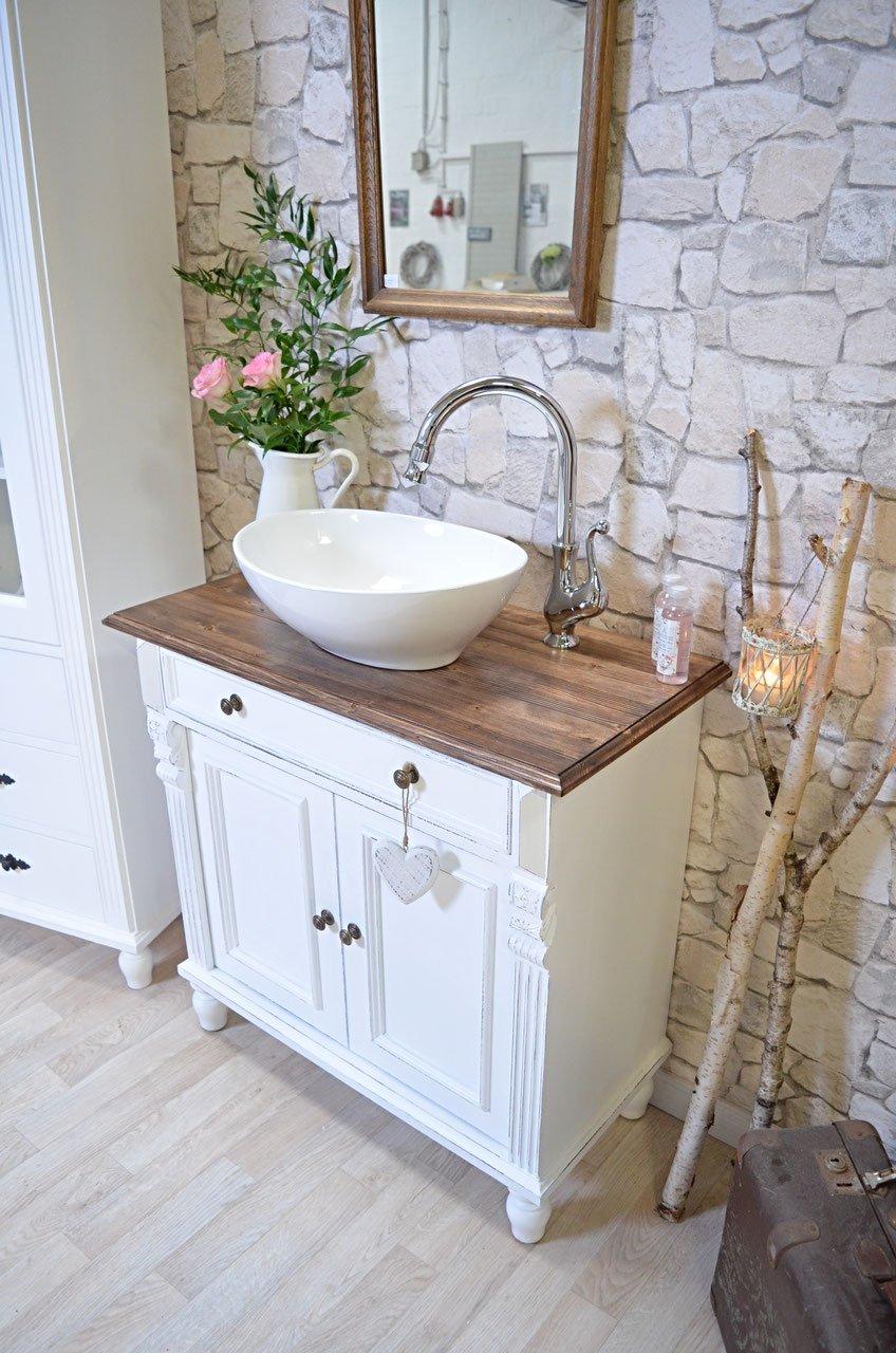 País & Amor de Muebles de baño GmbH Barring Ton: rústico de Lavabo, Shabby Chic de, nostálgico: Amazon.es: Hogar