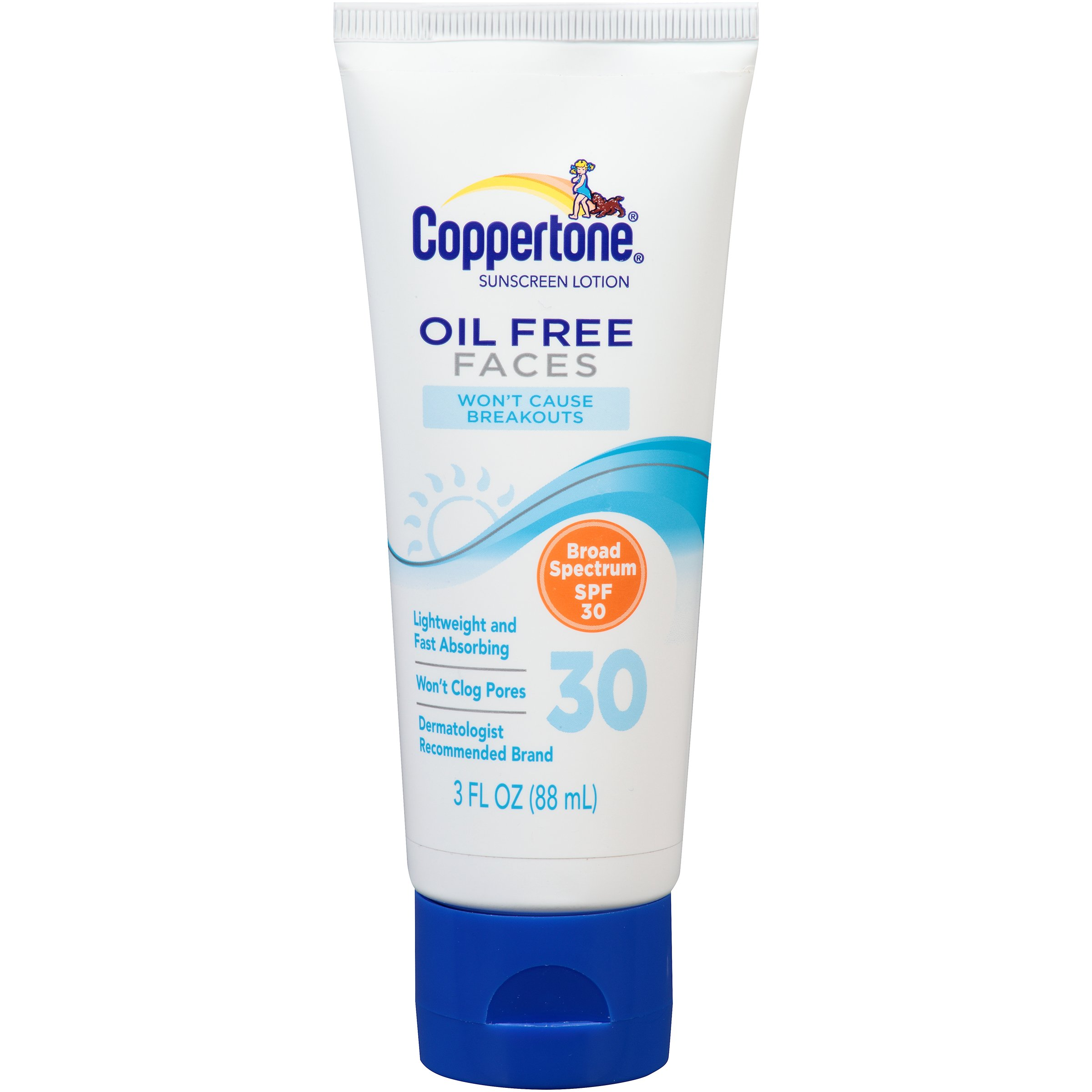 Coppertone Oil Free Faces SPF 30, 3 Fluid Ounce