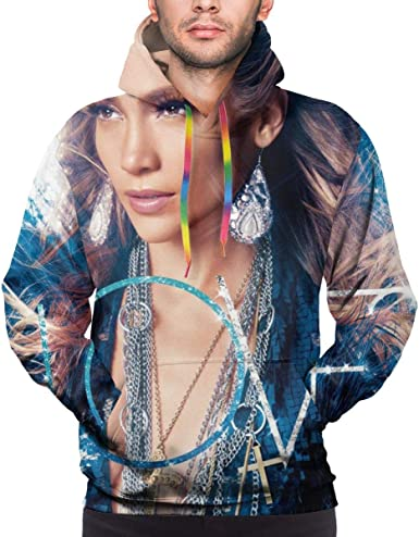 Jennifer Lopez Mens Hoodie Sweatshirt Black
