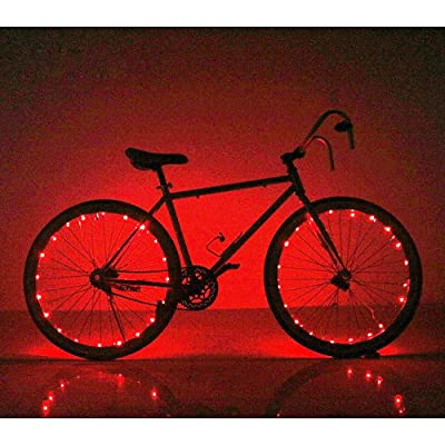 Soondar Super Bright 20-LED Bicycle Bike Rim Lights, Red: Home & Kitchen