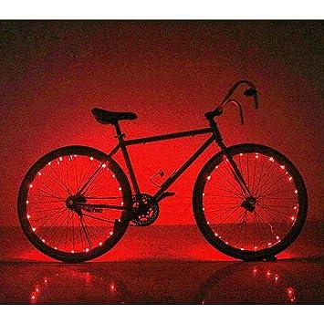 Soondar - Luces LED para rueda de bicicleta, 20 ledes, superbrillantes, coloridas,