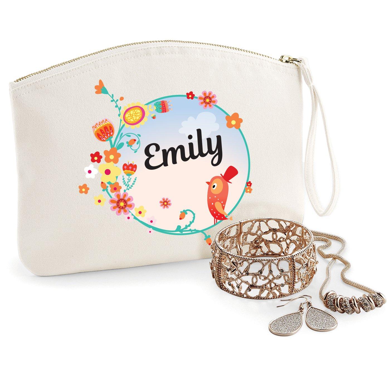 Trousse à personnaliser modèle Emily, coton BIO, existe en 2 tailles, trousse de toilette, prénom, cadeau anniversaire, fête des mères, trousse bijoux, sacoche prénom fête des mères