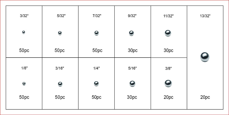Swordfish 31320-430pc SAE Bearing Steel Ball Assortment