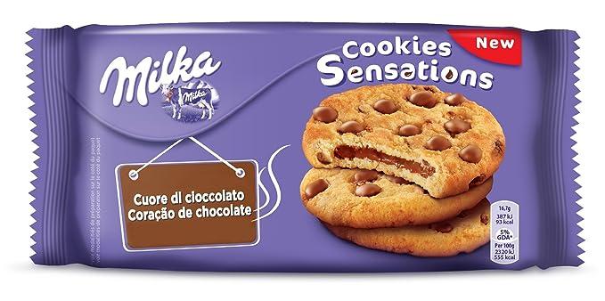 Milka Cookies Biscuits Sensations Chocolate Heart 156