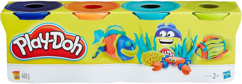 Plastilina PLAY-DOH Bote 112 gr. Peces, Pack x4 Colores: Amazon.es: Juguetes y juegos