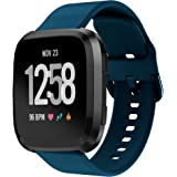 Fintia Soft Silicone Watch Strap Replacement Band Wristbands Compatible for Fitbit Versa 2/Versa/Versa Lite Special Edition Smart Watch