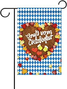 Sunny seat Oktoberfest Garden Flag Beer Party Banner Welcome Banner for Indoor Outdoor Decoration Warm House Flag Decoration Oktoberfest Party Backdrop Fabric Bavarian for Beer Party Vertical