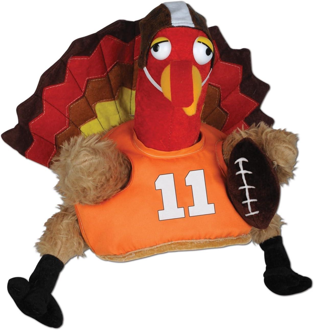 Beistle 1-Pack Decorative Plush Touchdown Turkey Hat, 1 piece