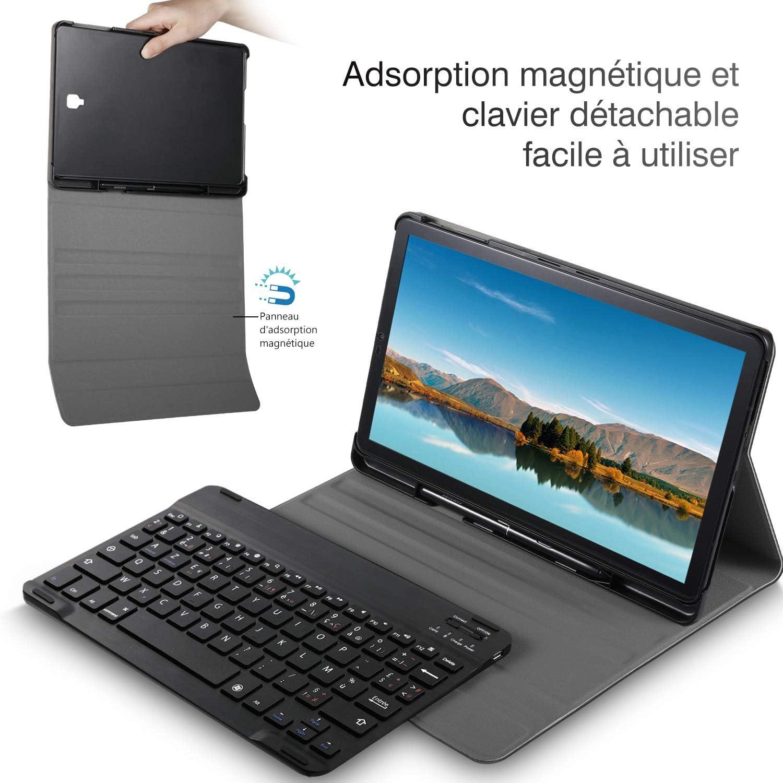 Negro Protectora Cover Funda con Desmontable Wireless Teclado, ELTD Funda Teclado Espa/ñol /Ñ para Lenovo Tab M10