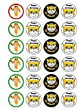 24 x Stampy Cat Edible Cupcake Toppers
