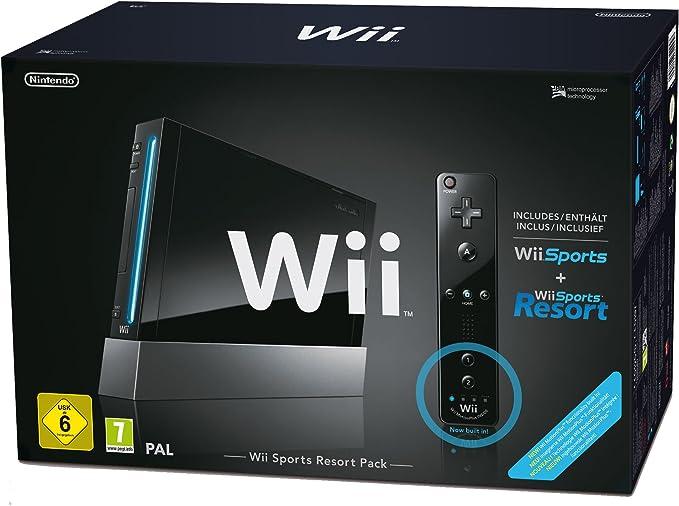Console Wii noire + Wii Sports + Wii Sports Resort [Importación francesa]: Amazon.es: Videojuegos