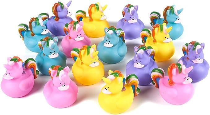 Toy Paperelle di Gomma Multicolore Set di 6 paperelle di Gomma,