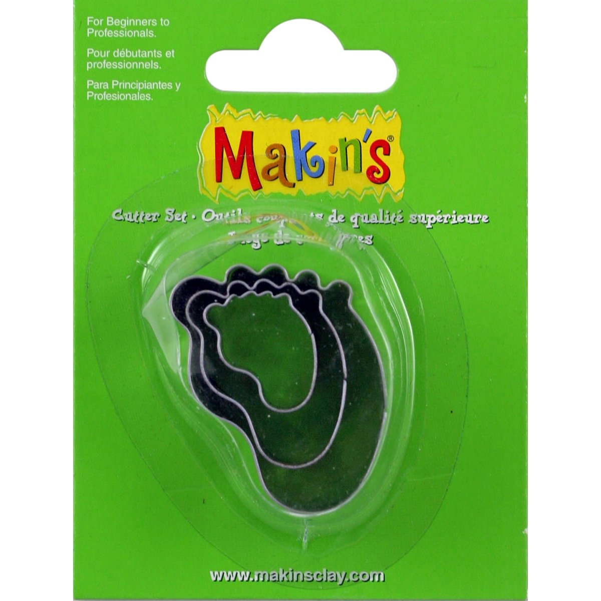 Makin's USA M360-30 Makin's Clay Cutters 3/Pkg-Baby Foot Makin's USA