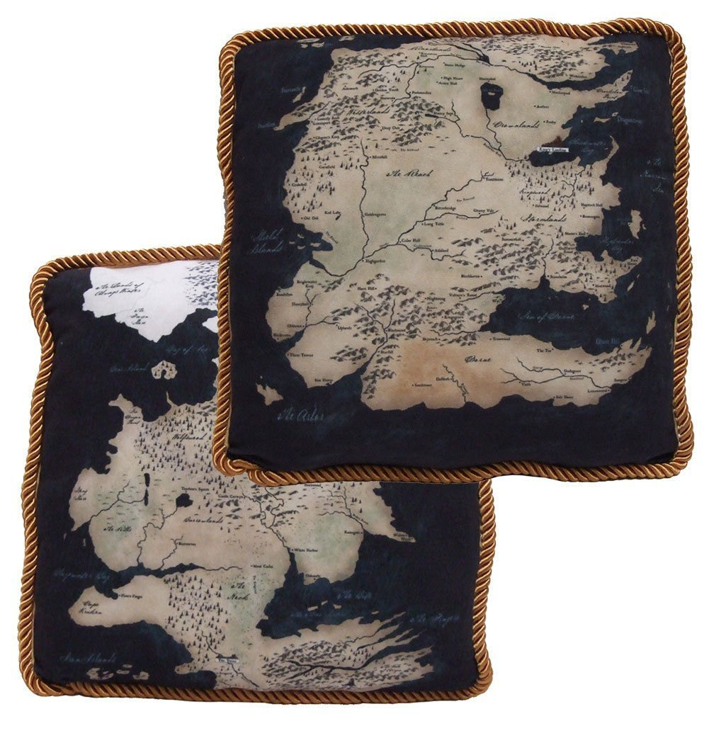 Game of Thrones Westeros Map Throw Pillow Set of 2
