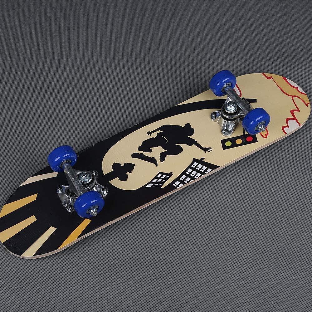 Beautyrain Completa el Mini Cruiser Penny Skateboard de 23 Pulgadas con Plataforma Resistente y 4 Ruedas para ni/ños Adultos ni/ñas Principiantes ni/ños