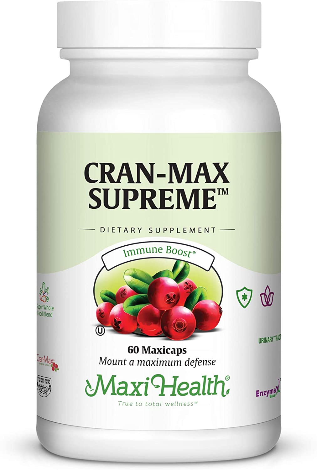 Maxi Health CranMax Supreme Urinary Tract and Immune Boost Capsules, 60 Count