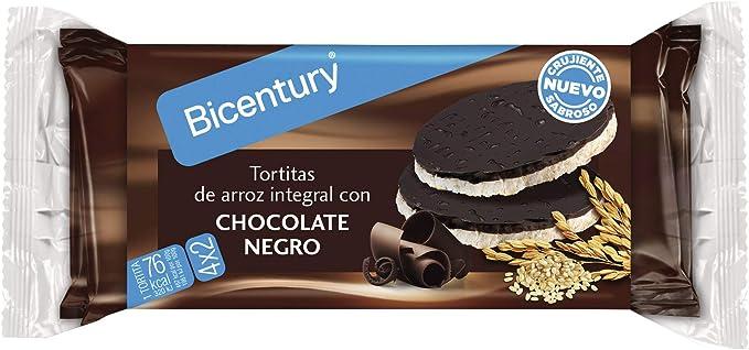 Bicentury Tortitas Nackis Arroz Integral con Chocolate Negro ...