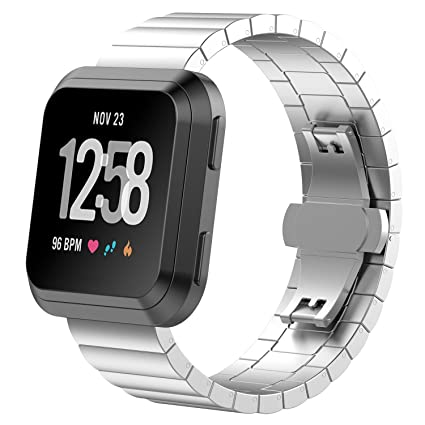 Chofit para Versa Smart Watch Band de acero inoxidable para ...