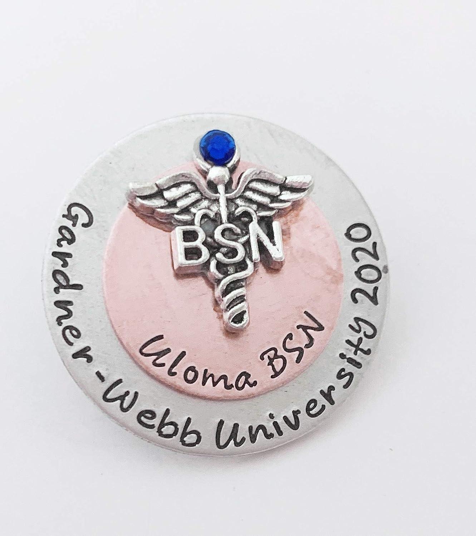 Personalized Nurse Brooch Nursing School Graduate Nurse Pin LPN Pinning Ceremony Custom Stacked Nurse Pin Registered Nurse Pin