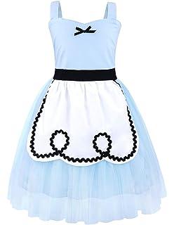 2472c7d9506f Amazon.com  Cotrio Princess Cinderella Costume Girls Halloween ...