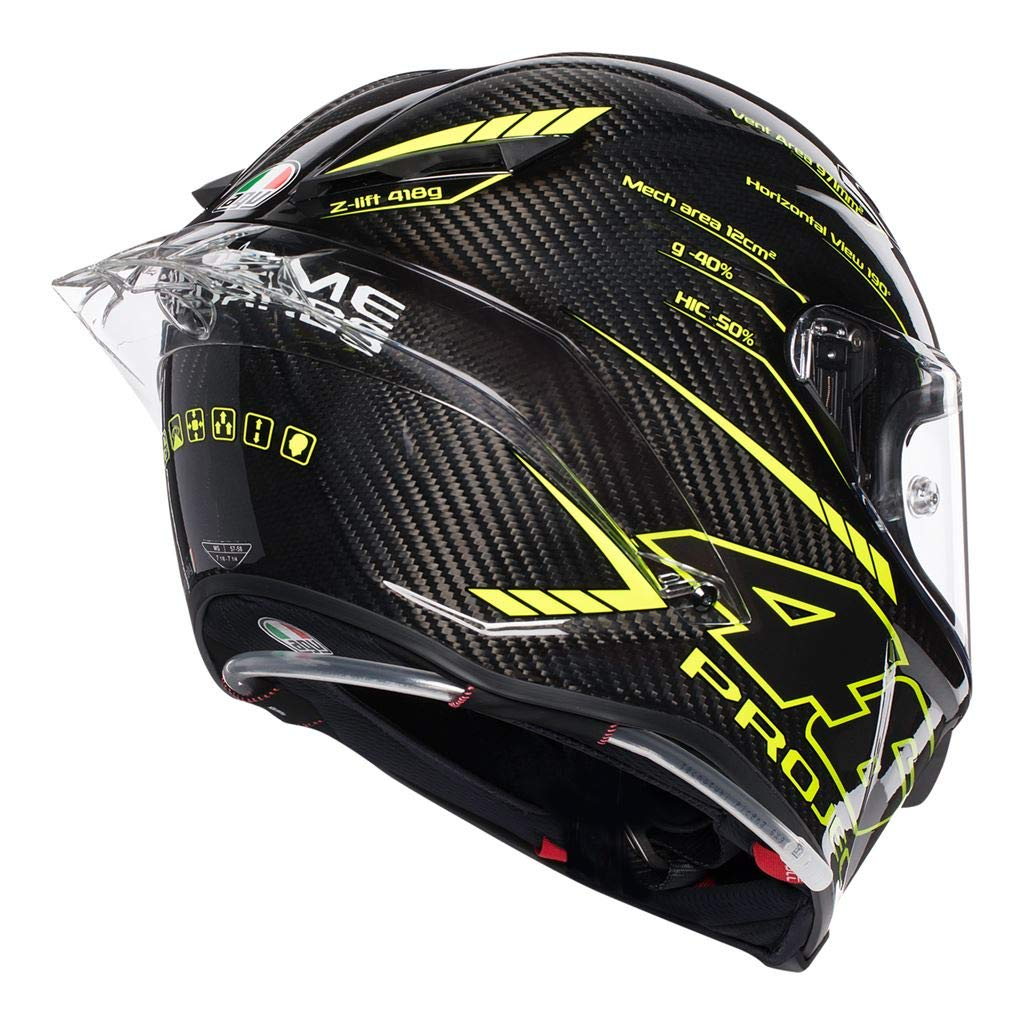 Amazon.com: AGV Pista GP-R Project 46 3.0 Carbon Fibre Full ...